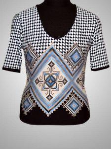 Блуза Угол Гусинные лапки