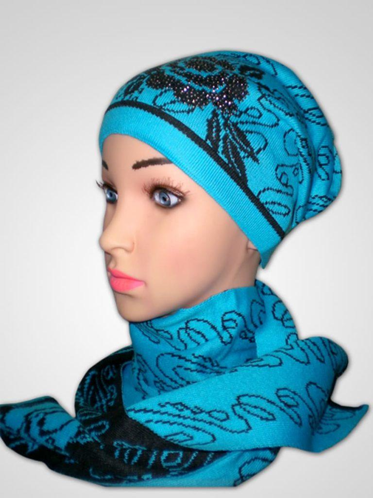 Комплект: шапка+шарф Роза комплект